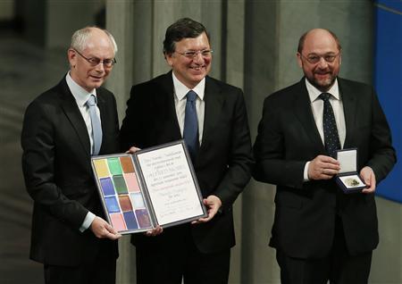 REMISE DU NOBEL DE LA PAIX AUX REPRÉSENTANTS DE L'UNION EUROPÉENNE