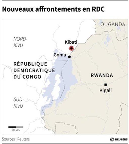 Nouveaux combats entre armée et M23 dans l'est de la RDC