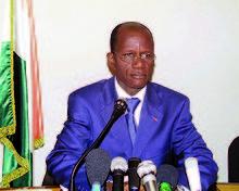 BOGA DOUDOU ( Ministre de l'Intérieur ), mort pour la patrie