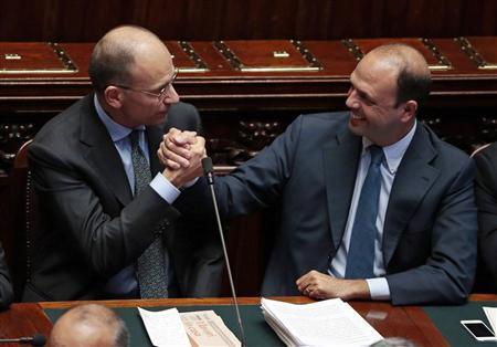 LE GOUVERNEMENT D'ENRICO LETTA OBTIENT LA CONFIANCE