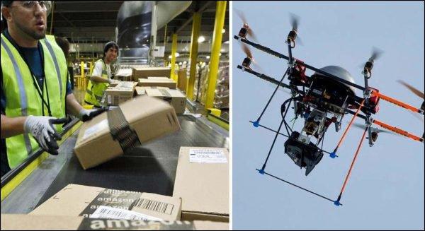 Des mini-drones pour livrer les clients d'Amazon